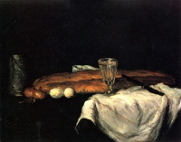 Поль  Сезан  Still Life with Bread and Eggs