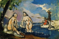 Поль  Сезан  Bathers and Fisherman with a Line