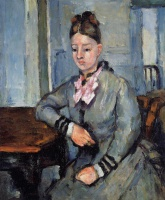 Поль  Сезан  Madame Cezanne Leaning on a Table