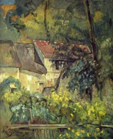 Поль  Сезан  The House of Pere Lacroix in Auvers