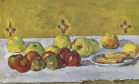 Поль  Сезан  Still life with apples and biscuits