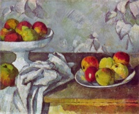 Поль  Сезан  Still life with apples and fruit bowl