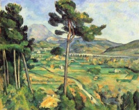 Поль  Сезан  Landscape with viaduct: Montagne Sainte-Victoire
