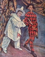Поль  Сезан  Pierrot and Harlequin (Mardi Gras)