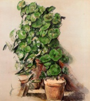 Поль  Сезан  Pots of Geraniums