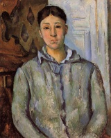 Поль  Сезан  Madame Cezanne in Blue