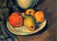 Поль  Сезан  Still Life with Pomegranate and Pears