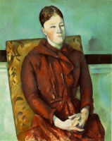 Поль  Сезан  Madame Cezanne in a Yellow Chair