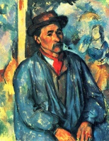 Поль  Сезан  Peasant in a Blue Smock