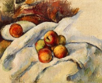 Поль  Сезан  Apples on a Sheet