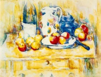 Поль  Сезан  Still Life with Apples, a Bottle and a Milk Pot