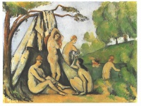Поль  Сезан  Bathers in front of a tend