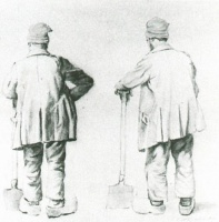 Винсент  ван Гог  Two Sketches of a Man Leaning on His Spade