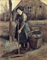 Винсент  ван Гог  A Girl Raking