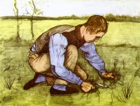 Винсент  ван Гог  Boy Cutting Grass with a Sickle