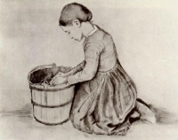 Винсент  ван Гог  Girl Kneeling in Front of a Bucket