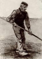 Винсент  ван Гог  Peasant with a Stick