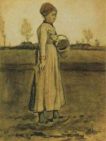 Винсент  ван Гог  Peasant Woman Sowing with a Basket