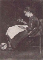 Винсент  ван Гог  Young Woman Sewing