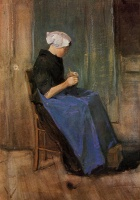 Винсент  ван Гог  Young woman knitting