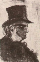 Винсент  ван Гог  Orphan Man with Top Hat, Head