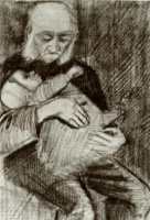 Винсент  ван Гог  Orphan Man with a Baby in his Arms