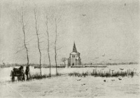 Винсент  ван Гог  Snowy Landscape with the Old Tower