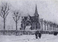 Винсент  ван Гог  The Church in Nuenen in Winter