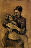 Винсент  ван Гог  Woman with a Child on Her Lap