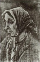 Винсент  ван Гог  Woman with Shawl over her Hair, Head