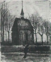 Винсент  ван Гог  Church in Nuenen, with One Figure