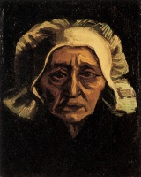 Винсент  ван Гог  Head of an Old Peasant Woman with White Cap