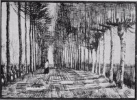 Винсент  ван Гог  Lane with Trees and One Figure