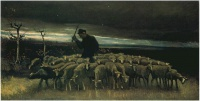 Винсент  ван Гог  Shepherd with a Flock of Sheep
