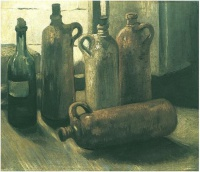 Винсент  ван Гог  Still Life with Five Bottles