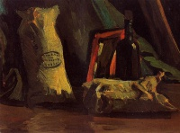 Винсент  ван Гог  Still Life with Two Sacks and a Bottle