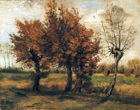 Винсент  ван Гог  Autumn Landscape with Four Trees