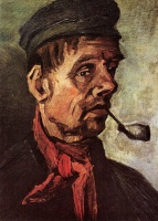 Винсент  ван Гог  Head of a Peasant with a Pipe