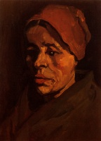 Винсент  ван Гог  Head of a Peasant Woman with Brownish Cap