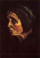 Винсент  ван Гог  Head of a Peasant Woman with Dark Cap