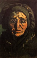 Винсент  ван Гог  Head of a Peasant Woman with Greenish Lace Cap