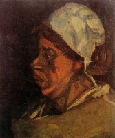 Винсент  ван Гог  Head of a Peasant Woman with White Cap