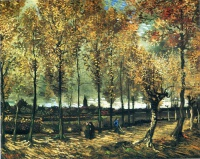 Винсент  ван Гог  Lane with poplars near Nuenen