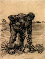 Винсент  ван Гог  Peasant Lifting Potatoes