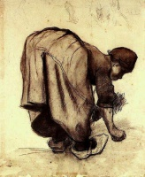 Винсент  ван Гог  Peasant Woman Bending Over