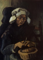 Винсент  ван Гог  Peasant Woman Peeling Potatoes
