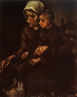Винсент  ван Гог  Peasant Woman with a Child in Her Lap