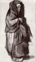 Винсент  ван Гог  Peasant Woman with Shawl over her Head, Seen from the Side