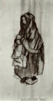 Винсент  ван Гог  Peasant Woman with Shawl over her Head, Seen from the Side 2