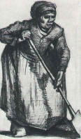 Винсент  ван Гог  Peasant Woman with Spade